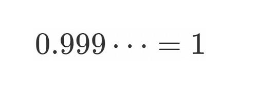 0.999...=1