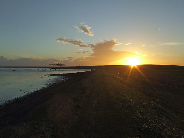 Sunset at Mucking Marshes