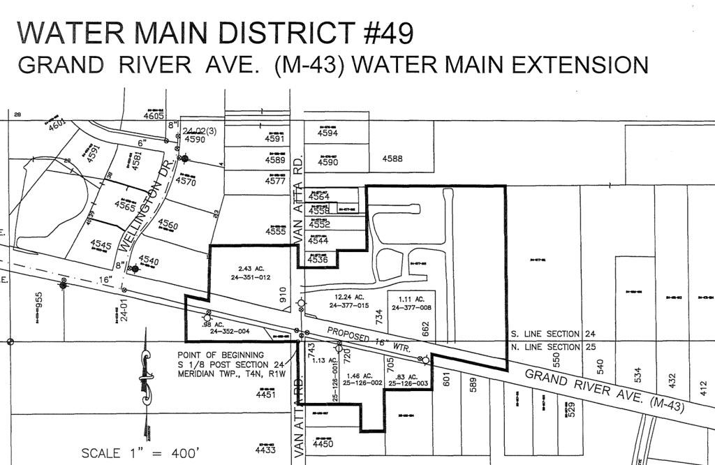 Meridian Township Residents Propose Water Main Extension