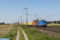 PRESS 140 038 mit Metrans Container Hamburg Dradenau - Leipzig Wahren Ubf