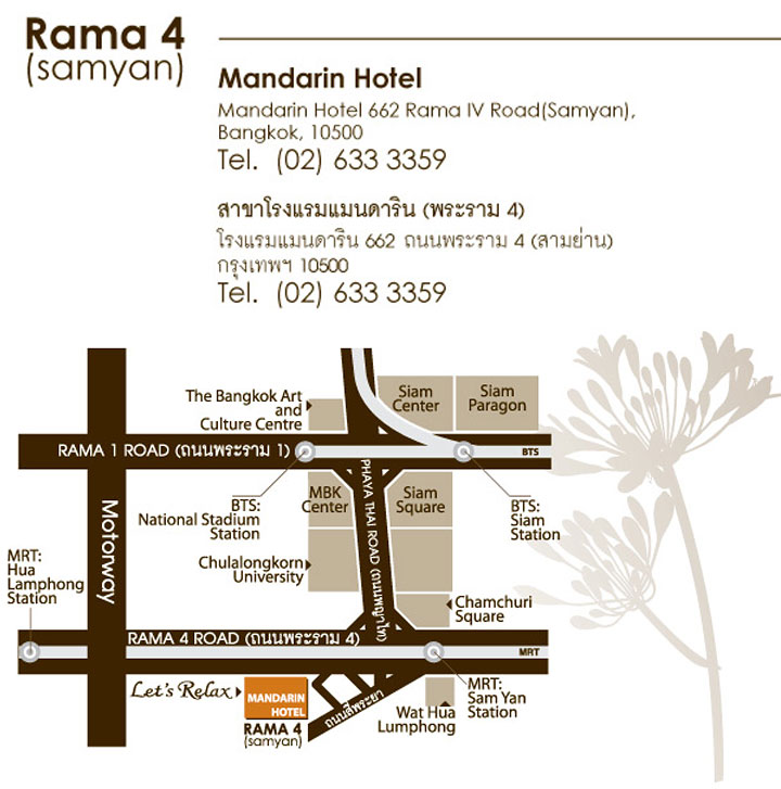 Let's Relax Mandarin Samyan Map