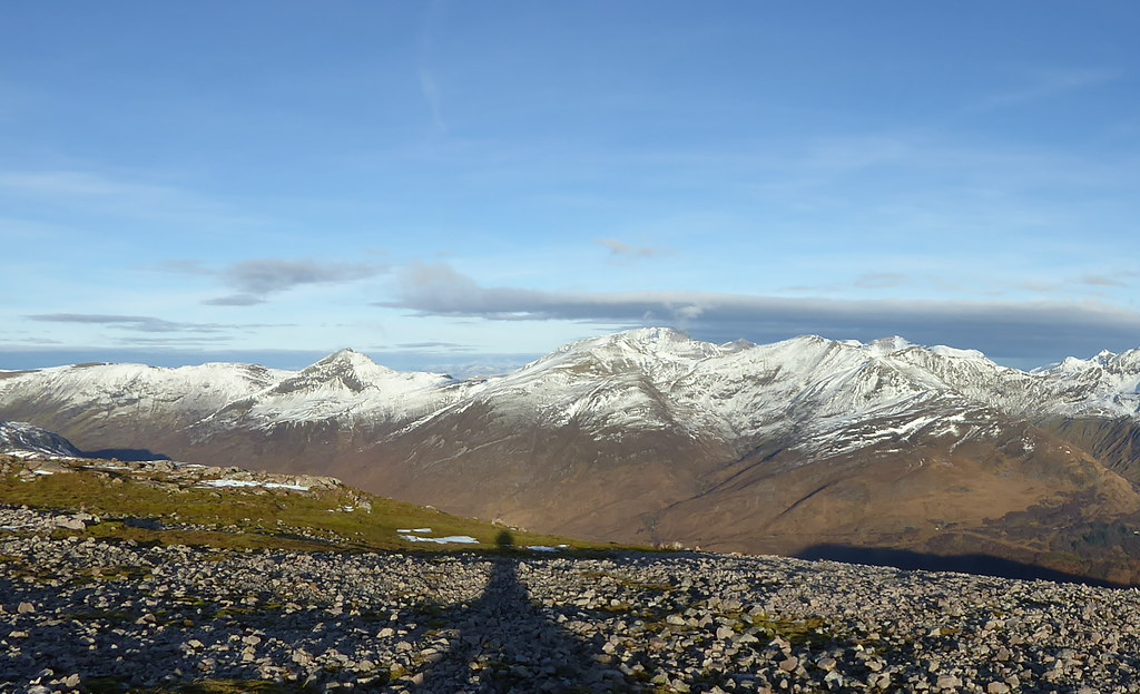 The Mamores from Garbh Bheinn
