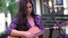 Haley Wilson playing Guitar in Brisbane Queen St Mall_1
