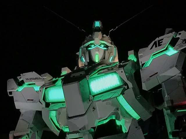 Real Gundam Unicorn Life Size - GREEN