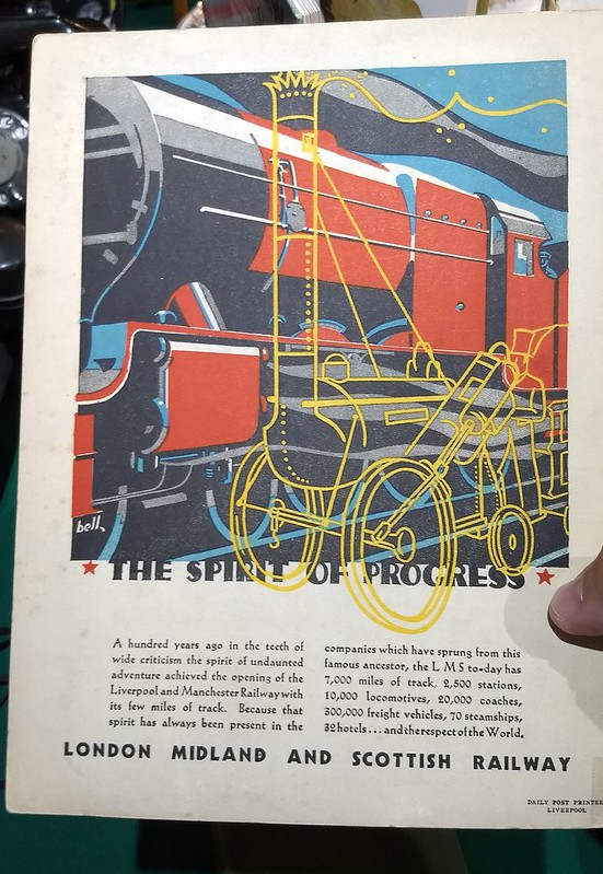 Old railway promotional material: Spirit Of Progress