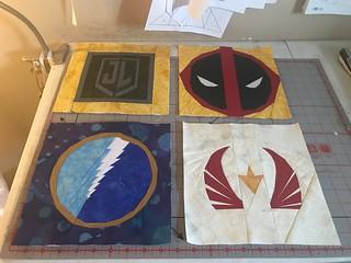Superheroes: Justice League, Deadpool, Quick Silver, The Falcon