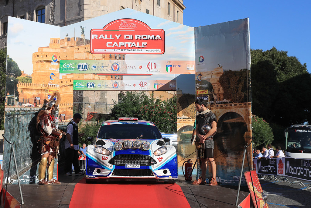 12 HABAJ Lukasz (POL) DYMURSKI Daniel (POL) Ford Fiesta R5 start during the 2017 European Rally Championship ERC Rally di Roma Capitale,  from september 15 to 17 , at Fiuggi, Italia - Photo Jorge Cunha / DPPI