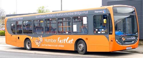 FX09 DBV 'Stagecoach East Midlands' No. 22758 'FastCat Fluffy' MAN 18.240 / Alexander Enviro 300 /2 on 'Dennis Basford's railsroadsrunways.blogspot.co.uk'