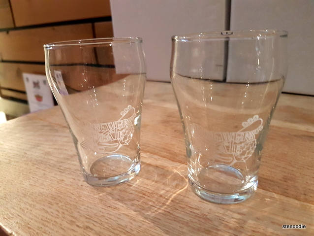 Brewers Plate glasses