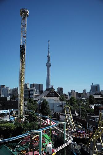 Hanayashiki and Tokyo Skytree