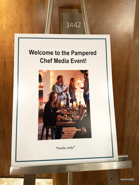 Pampered Chef media event sign