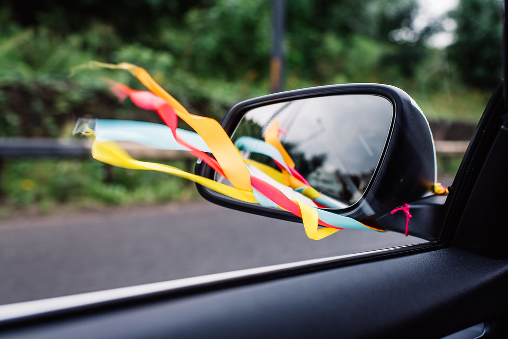 Wedding DIY's - car ribbons