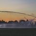 Farmland Sunset - Crop Irrigation System - Wisconsin
