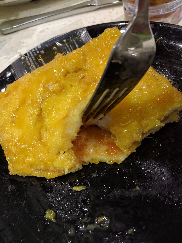 French Toast cut opened revealing its contents.