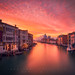 A Red Sunsrise in Venice by Henry w. L
