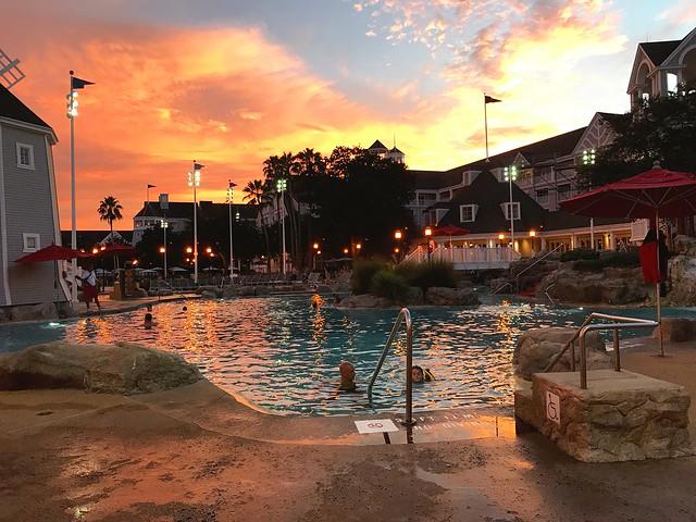 Day 4 sunrise/ animal kingdom/ evening swimming at sunset at resort