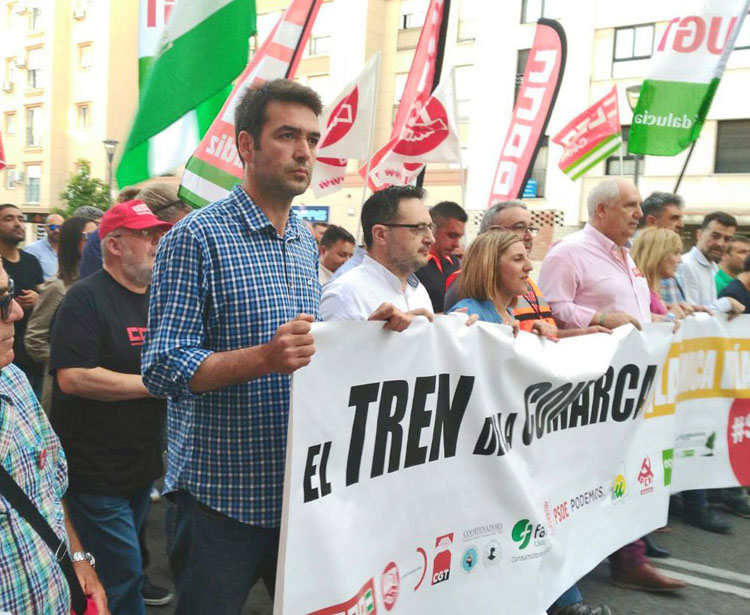 AxSí tren Algeciras Bellido cabecera manifestación (5)1