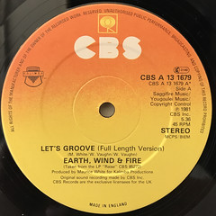 EARTH,WIND & FIRE:LET'S GROOVE(LABEL SIDE-A)