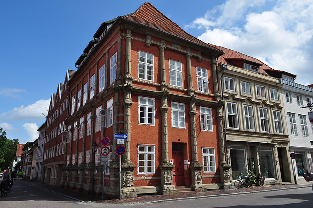Maison Renaissance (1574), Lünetorstrasse, Lunebourg,  Basse-Saxe, République Fédérale d'Allemagne.