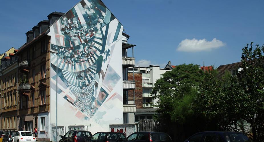 Street art in Heidelberg: WESR | Mooistestedentrips.nl
