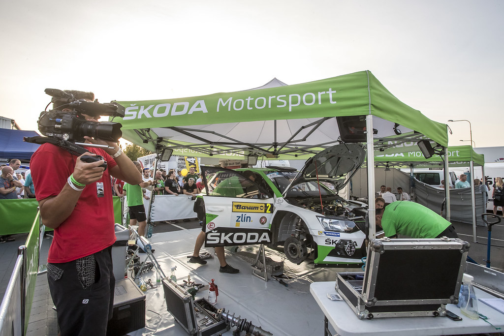 KOPECKY Jan (CZE) DRESLER Pavel  (CZE) Skoda Fabia R5 ambiance portrait during the 2017 European Rally Championship ERC Barum rally,  from August 25 to 27, at Zlin, Czech Republic - Photo Gregory Lenormand / DPPI