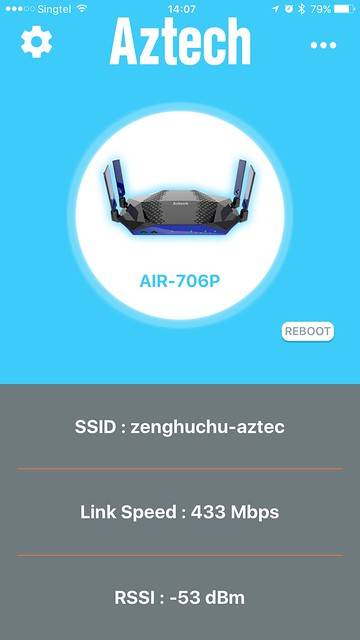 AIR-706P - iOS App - Home