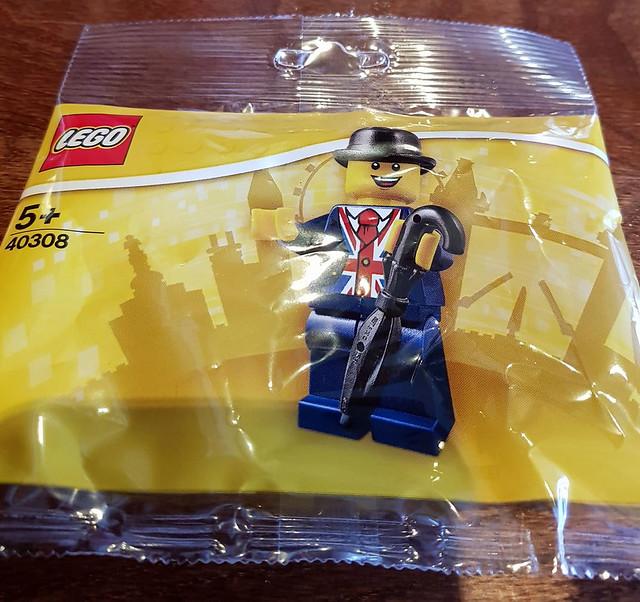 洋溢著滿滿英倫風情的可愛人偶~~LEGO Polybag 40308【萊斯特】Lester 倫敦限定!!