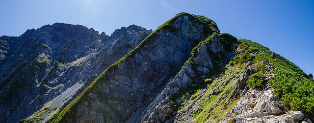 2800mから先は岩稜帯