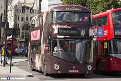 Wrightbus NRM NBFL - LTZ 1420 - LT420 - Magnum Double Raspberry - Dulwich LIbrary 12 - Go Ahead London - London 2017 - Steven Gray - IMG_8632