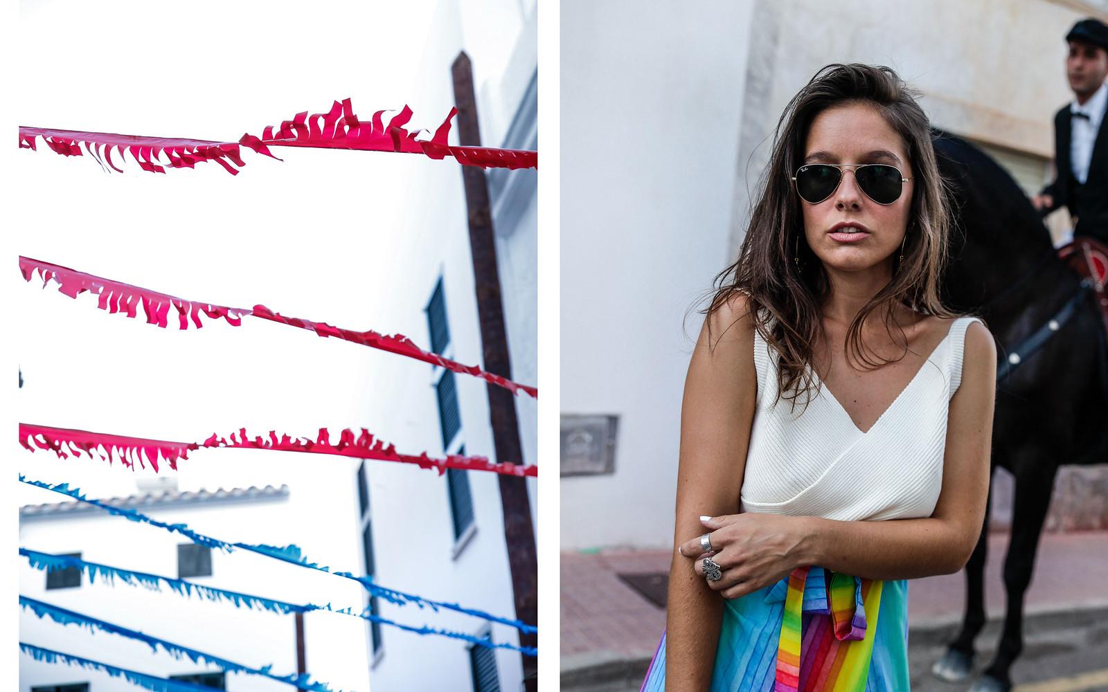 06_falda_arcoiris_top_crudo_look_fiestas_menorca_verano_theguestgirl_fashion_blogger_minorca_summer_laura_santolaria_rayban_sunglasses