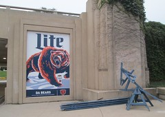 Chicago Bears/Miller Lite ad, Museum Campus, Chicago
