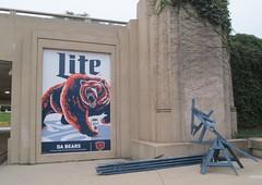 Chicago Bears/Miller Lite ad, Museum Campus, Chicago