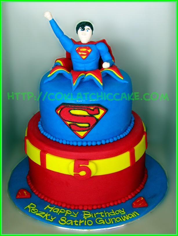 Birthday Cake Superman Rezky Coklatchic Cake