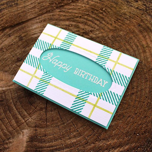 Plaid Birthday Gift Card Holder 2