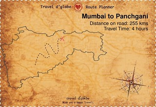 Map from Mumbai to Panchgani