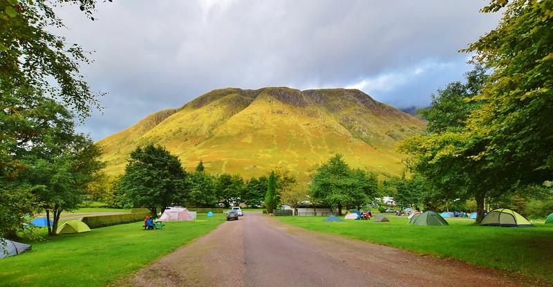 Glen Nevis Campsite near Ben Nevis