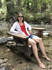 Sitting in the river