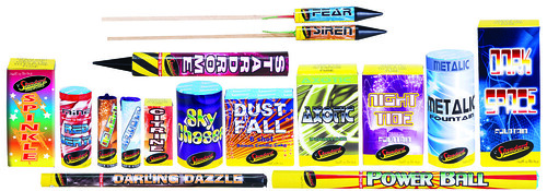 Midnight Blitz Selection Box Contents by Standard Fireworks