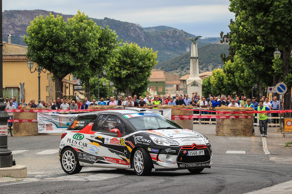 38  FALCON Emma (ESP) PENATE Rogelio (ESP) Citroen DS3 R3T action during the 2017 European Rally Championship ERC Rally di Roma Capitale,  from september 15 to 17 , at Fiuggi, Italia - Photo Jorge Cunha / DPPI