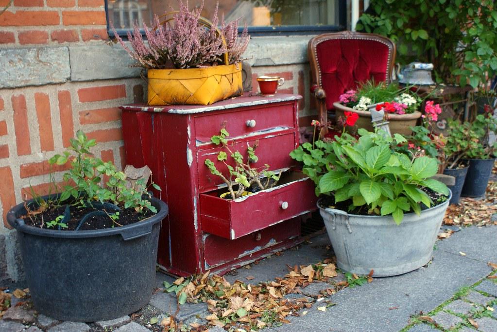 Décoration d'extérieur dans le quartier de Norrebro à Copenhague.