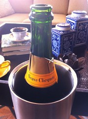 Brian and Allison - Wedding - 26Honeymoon Suite - Veuve Clicquot at the Hilton Anatole 0852