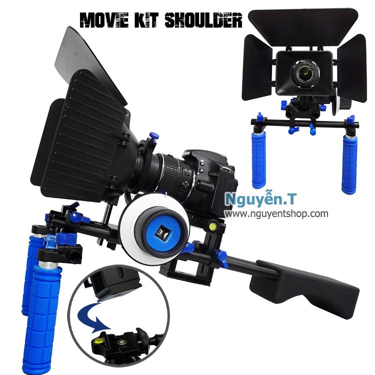 Vác vai quay phim Đế Gắn Nhanh Shoulder Rig Movie Kit PRO M5