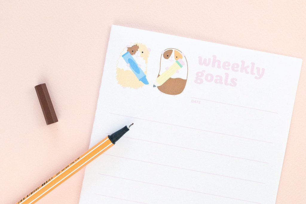 Wheekly Goals - a guinea pig printable list