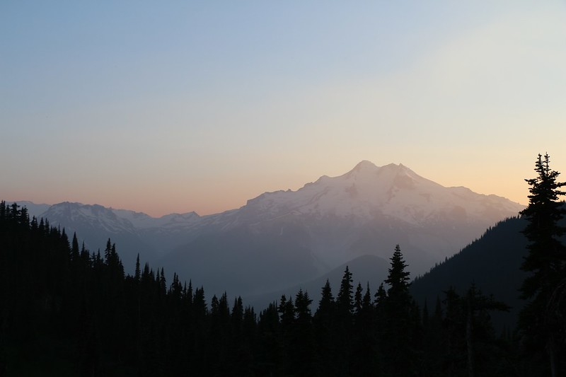 Glacier Peak at sunset from Buck Creek Pass