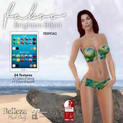 FABOO. Brighton Bikini Tropical