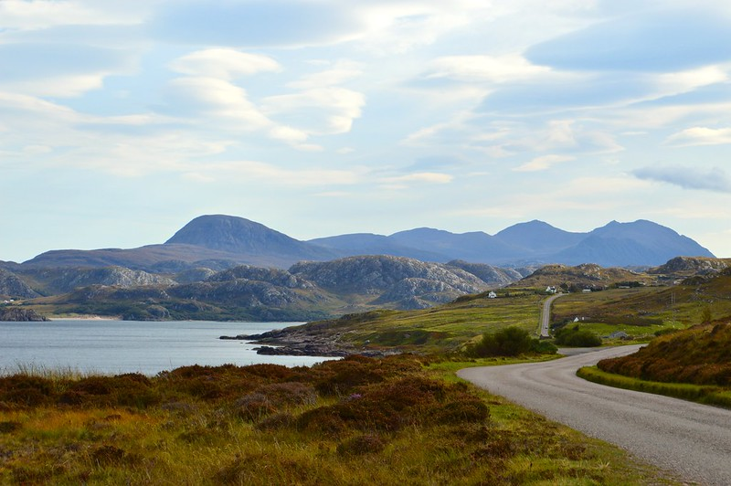 this is a picture of Gruinard Bay on the NC500 route in Scotland