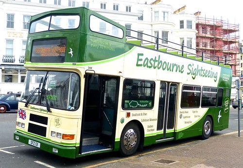 SFZ 131 'Seaford & District' No. 349 'Eastbourne Sightseeing' Volvo Olympian / Alexander (Belfast) 'R' on 'Dennis Basford's railsroadsrunways.blogspot.co.uk'