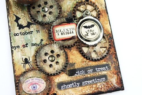 Meihsia Lilu Simply Paper Crafts Mixed Media Tag Halloween Simon Says Stamp Tim Holtz 4