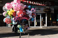Balloon Cart in Front of McDonald's on Flatbush Avenue