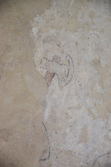 wall painting: head of an axe